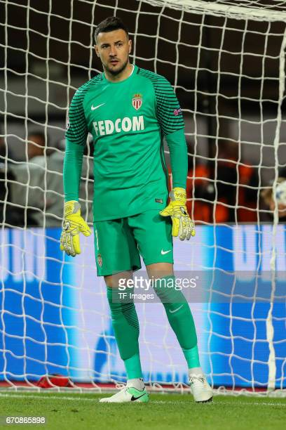 Goalkeeper Danijel Subasic of Monaco looks on during the UEFA Champions League quarter final second leg match between AS Monaco and Borussia Dortmund...