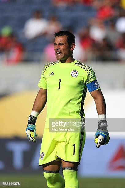 Goalkeeper Danny Carvajal of Costa Rica watches the game action during the 2016 Copa America Centenario Group A match between Costa Rica and Paraguay...