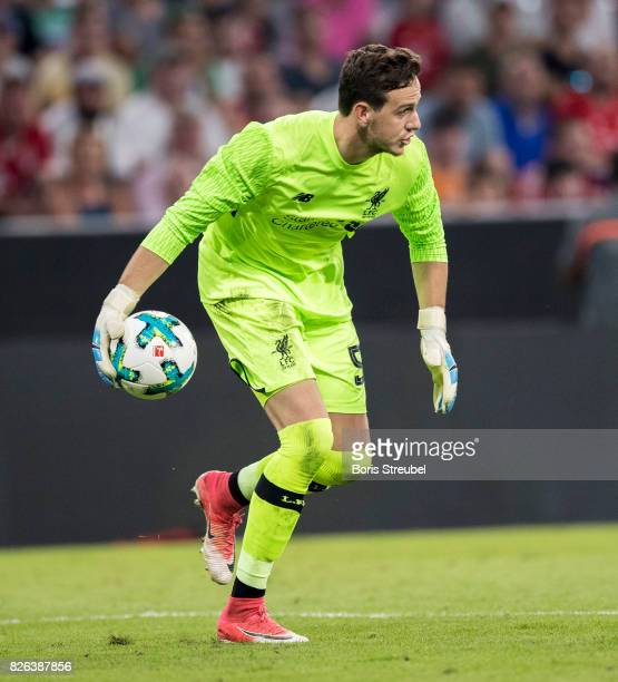 Goalkeeper Danny Ward of Liverpool FC in action during the Audi Cup 2017 match between Liverpool FC and Atletico Madrid at Allianz Arena on August 2...