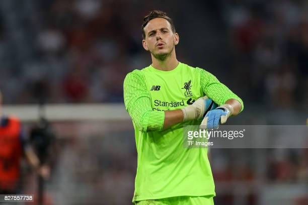 Goalkeeper Danny Ward of Liverpool looks on during the Audi Cup 2017 match between Liverpool FC and Atletico Madrid at Allianz Arena on August 2 2017...