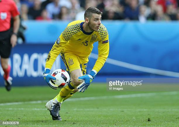 goalkeeper David De Gea of Spain during the UEFA Euro 2016 round of 16 match between Italy and Spain on June 27 2016 at the Stade de France in Paris...