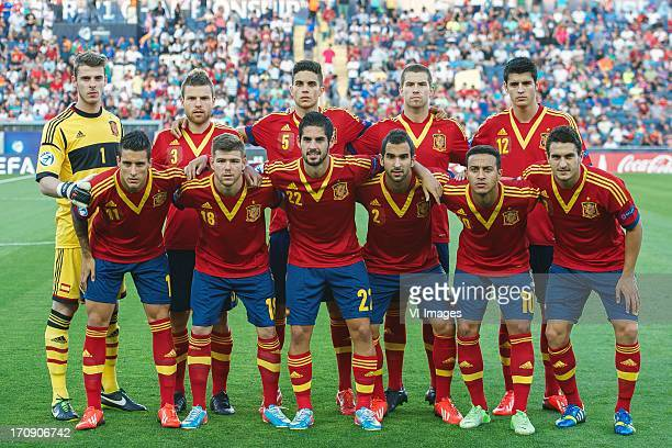 goalkeeper David de Gea of Spain U21 Asier Illarramendi of Spain U21 Marc Bartra of Spain U21 Inigo Martinez of Spain U21 Alvaro Morata of Spain U21...