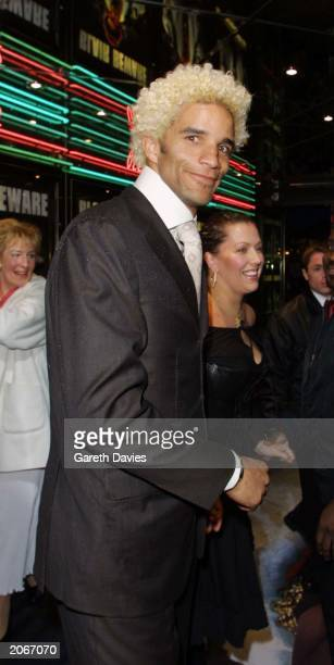 Goalkeeper David James attends the London premiere of the Ali G film 'Indahouse' at the Empire Leicester Square London on March 20 2002