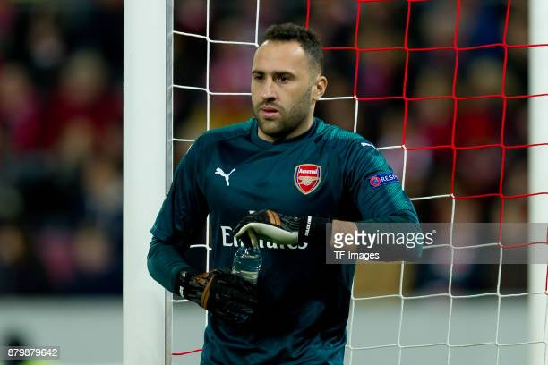 Goalkeeper David Ospina of Arsenal looks on during the UEFA Europa League Group H soccer match between 1FC Cologne and Arsenal FC at the RheinEnergie...