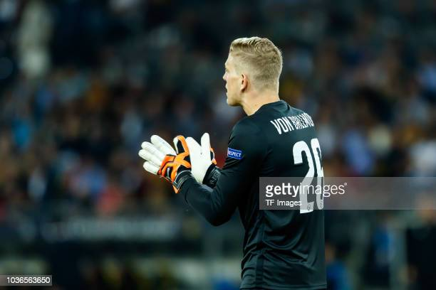 Goalkeeper David von Ballmoos of BSC Young Boys gestures during the UEFA Champions League Group H match between BSC Young Boys and Manchester United...