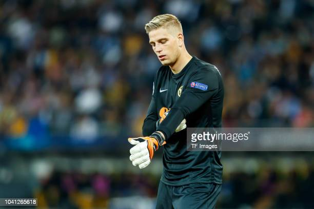 Goalkeeper David von Ballmoos of BSC Young Boys looks on during the UEFA Champions League Group H match between BSC Young Boys and Manchester United...