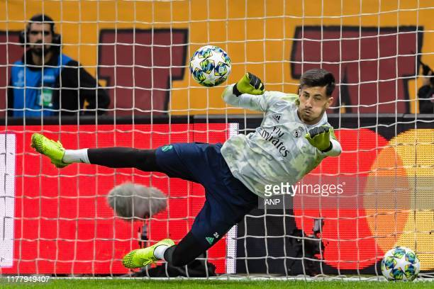 goalkeeper Diego Altube of Real Madrid CF during the UEFA Champions League group A match between Galatasaray AS and Real Madrid at Turk Telekom...