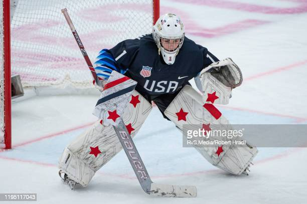Goalkeeper Dylan Silverstein of United States looks on during Men's 6Team Tournament Semifinals Game between United States and Canada of the Lausanne...