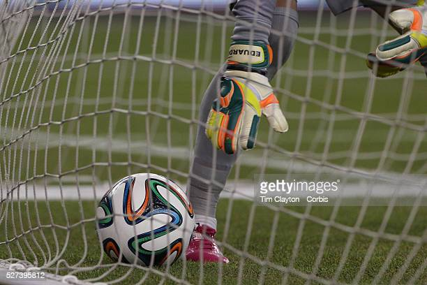 Goalkeeper Eduardo Portugal picks the ball out of the net after a disallowed Mexican goal during the Portugal V Mexico International Friendly match...