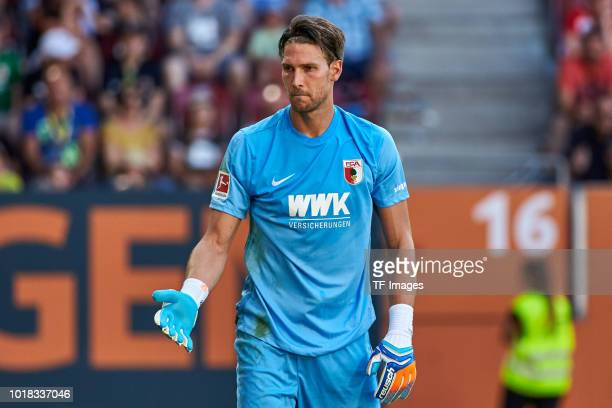 Goalkeeper Fabian Giefer of FC Augsburg looks on during the friendly match between FC Augsburg and Athletic Club Bilbao on August 12 2018 in Augsburg...