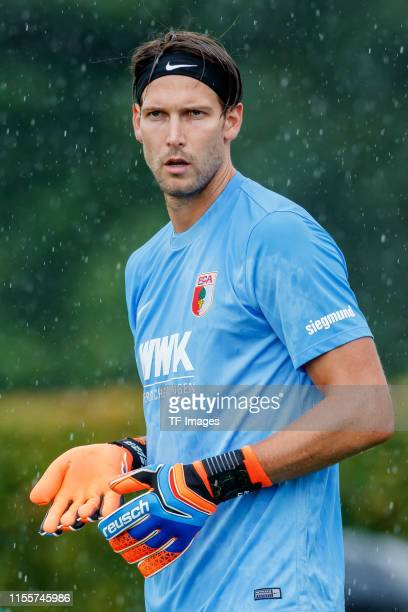 Goalkeeper Fabian Giefer of FC Augsburg looks on during the match between FC Augsburg and SpVgg Greuther Fuerth at the Schauinsland Reisen Cup on...