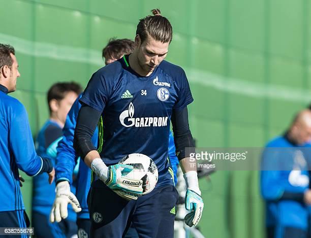 Goalkeeper Fabian Giefer of Schalke during the Training Camp of FC Schalke 04 at Hotel Melia Villaitana on January 08 2017 in Benidorm Spain