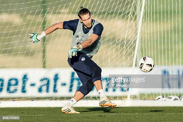 Goalkeeper Fabian Giefer of Schalke in action during the Training Camp of FC Schalke 04 at Hotel Melia Villaitana on January 08 2017 in Benidorm Spain