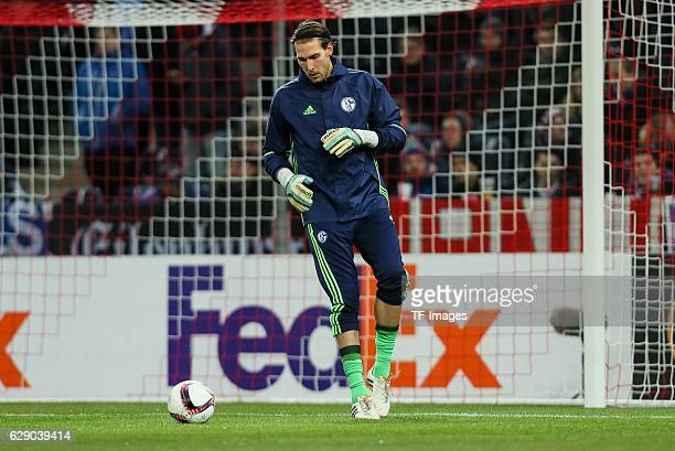 goalkeeper Fabian Giefer of Schalke in action during the UEFA Europa League match between FC Salzburg and FC Schalke 04 at Red Bull Arena in Salzburg...