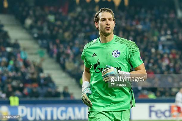 goalkeeper Fabian Giefer of Schalke looks on during the UEFA Europa League match between FC Salzburg and FC Schalke 04 at Red Bull Arena in Salzburg...