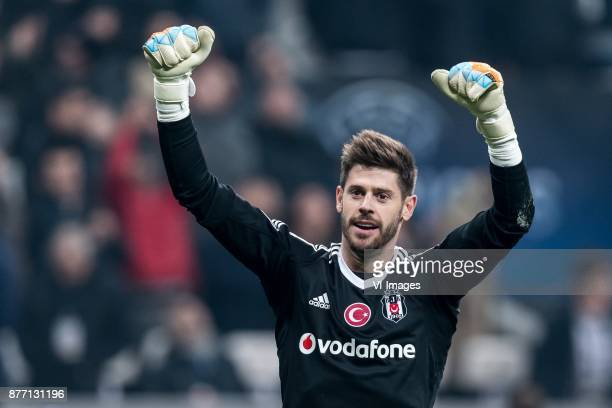 goalkeeper Fabricio Agosto Ramirez of Besiktas JK celebrate the point during the UEFA Champions League group G match between Besiktas JK and FC Porto...