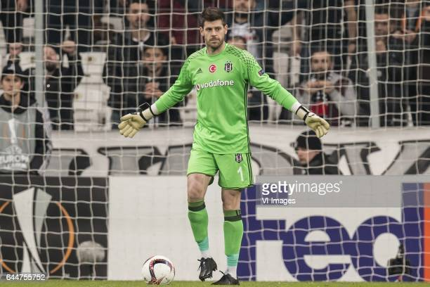 goalkeeper Fabricio Agosto Ramirez of Besiktas JKduring the UEFA Europa League round of 16 match between Besiktas JK and Hapoel Beer Sheva on...