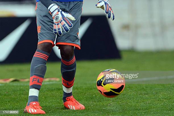 Goalkeeper Felipe of Flamengo during a match between Flamengo and Internacional as part of the Brazilian Serie A championship at Centenario stadium...