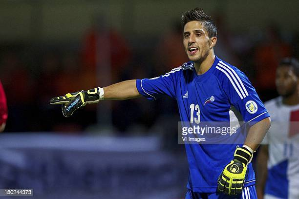 goalkeeper Ferran Pol Perez of Andorra during the FIFA 2014 World Cup qualifier match between Andorra and the Netherlands at Estadi Comunal on...