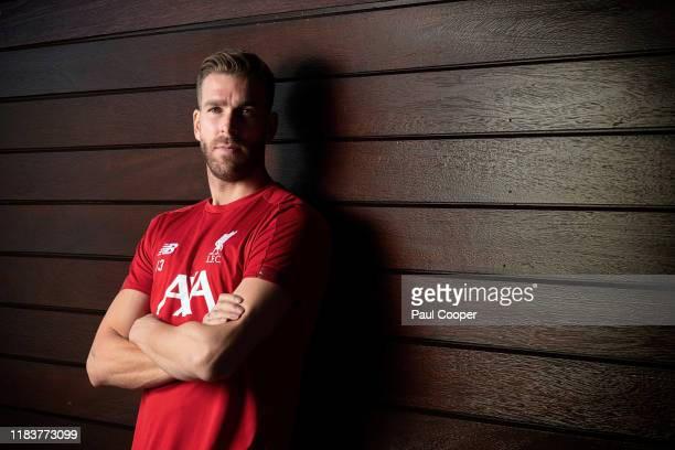 Goalkeeper for Liverpool football club Adrian is photographed for the Telegraph on October 16 2019 in Liverpool England