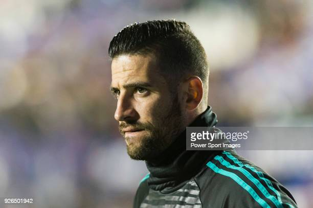 Goalkeeper Francisco Casilla Cortes K Casilla of Real Madrid in training prior to the La Liga 201718 match between Levante UD and Real Madrid at...