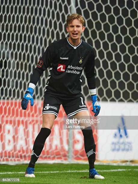 Goalkeeper Frederik Ronnow of Brondby IF looks on during the Danish Alka Superliga match between FC Copenhagen and Brondby IF at Telia Parken Stadium...