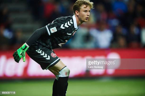 Goalkeeper Frederik Ronnow of Denmark looks on during the international friendly match between Denmark and Germany at Brondby Stadion on June 6 2017...