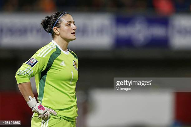 goalkeeper Gemma Fay of Scotland during the Worldcup playoff qualification match between Holland and Scotland at the Sparta stadium the Castle on...