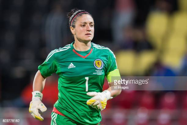 goalkeeper Gemma Fay of Scotland women during the UEFA WEURO 2017 Group D group stage match between Scotland and Spain at The Adelaarshorst on July...