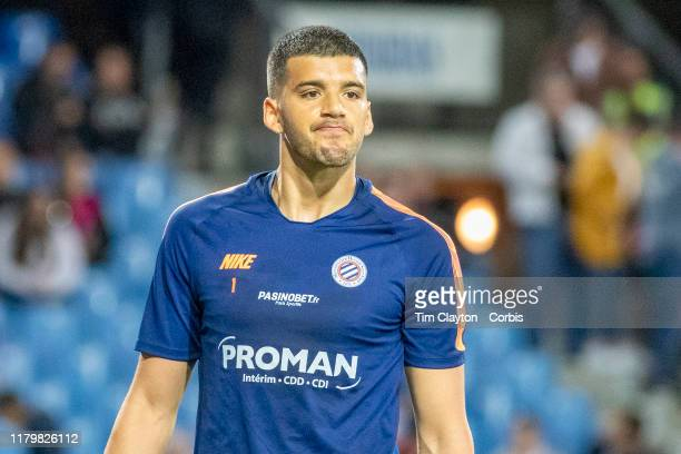 October 5: Goalkeeper Geronimo Rulli of Montpellier during team warm up before the Montpellier V Monaco, French Ligue 1 regular season match at Stade...