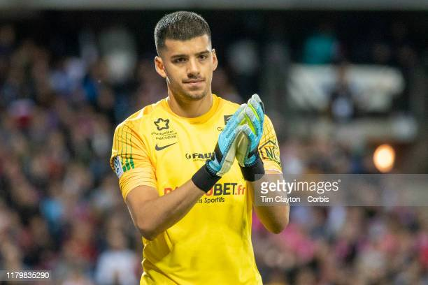 October 5: Goalkeeper Geronimo Rulli of Montpellier during the Montpellier V Monaco, French Ligue 1 regular season match at Stade de la Mosson on...