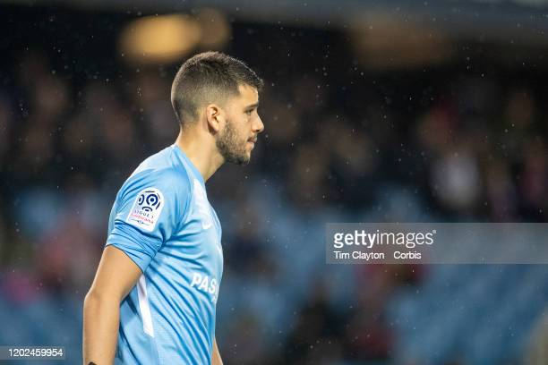 January 25: Goalkeeper Geronimo Rulli of Montpellier during the Montpellier V Dijon, French Ligue 1 regular season match at Stade de la Mosson on...