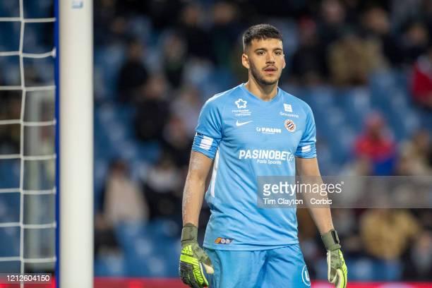 February 29: Goalkeeper Geronimo Rulli of Montpellier during the Montpellier V Strasbourg, French Ligue 1 regular season match at Stade de la Mosson...