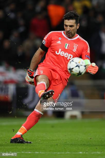 Goalkeeper Gianluigi Buffon of Juventus during the UEFA Champions League Round of 16 Second Leg match between Tottenham Hotspur and Juventus at...