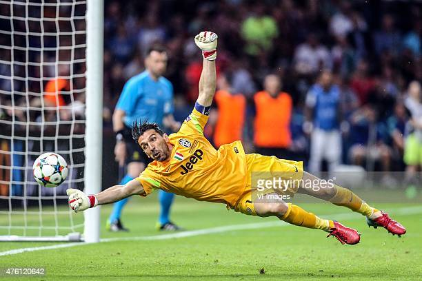 goalkeeper Gianluigi Buffon of Juventus FC during the UEFA Champions League final match between Barcelona and Juventus on June 6 2015 at the Olympic...