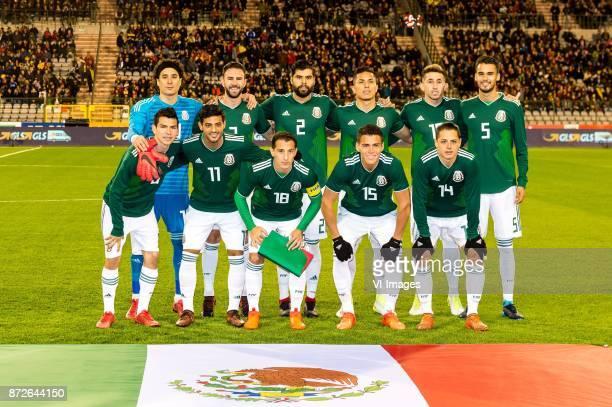 goalkeeper Guillermo Ochoa of Mexico Miguel Layun of Mexico Nestor Araujo of Mexico Carlos Salcedo of MexicoHector Herrera of Mexico Diego Reyes of...