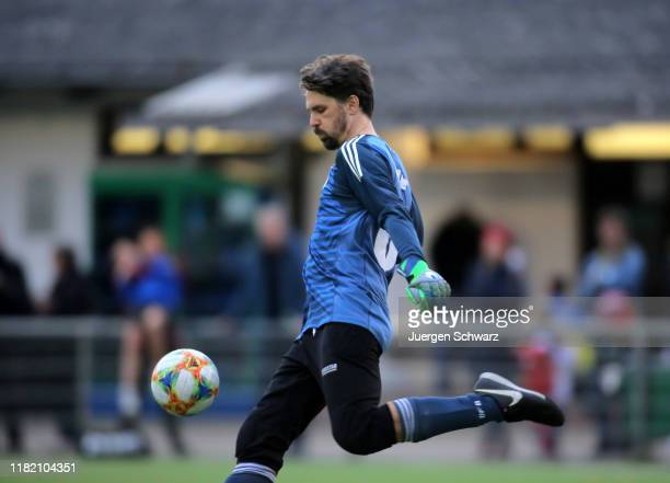 Goalkeeper Hannes Koehler of Germany shoots the ball during the International Friendly match between the Authors national teams of Germany and Norway...