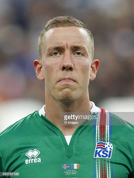 goalkeeper Hannes Por Halldorsson of Iceland during the UEFA EURO 2016 quarter final match between France and Iceland on July 3 2016 at the Stade de...