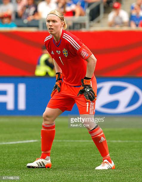 Goalkeeper Hedvig Lindahl of Sweden against Nigeria during the FIFA Women's World Cup Canada 2015 Group D match between Sweden and Nigeria at...