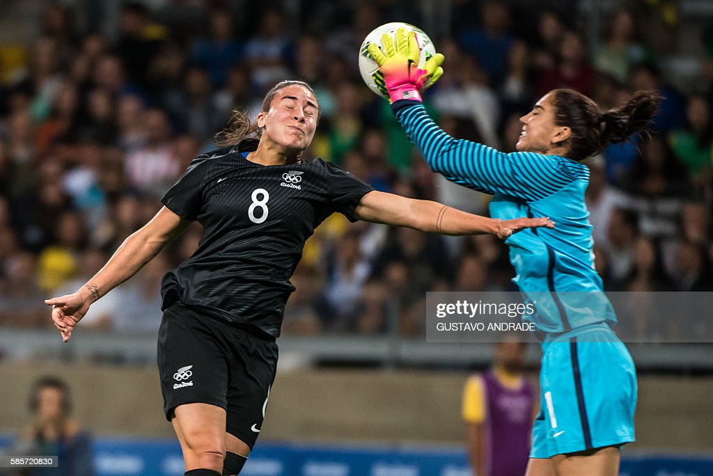 FBL-OLY-2016-RIO-WOMEN-USA-NZL : News Photo