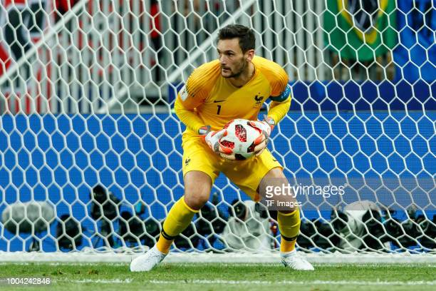 goalkeeper Hugo Lloris of France controls the ball during the 2018 FIFA World Cup Russia Final between France and Croatia at Luzhniki Stadium on July...