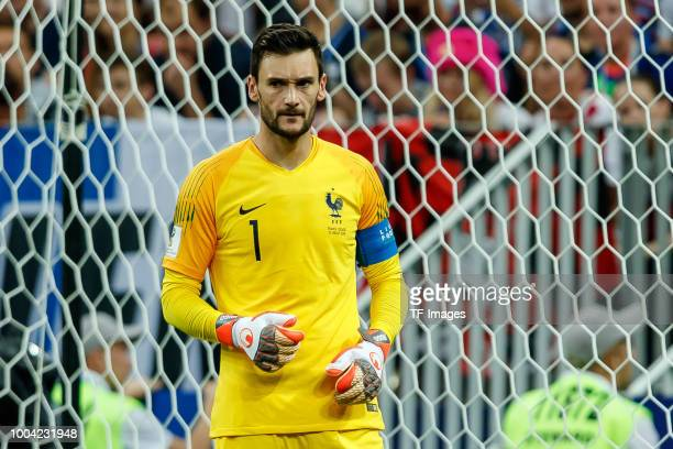goalkeeper Hugo Lloris of France looks on during the 2018 FIFA World Cup Russia Final between France and Croatia at Luzhniki Stadium on July 15 2018...