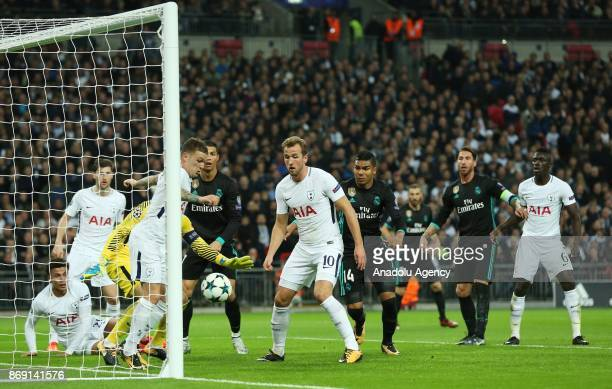 Goalkeeper Hugo Lloris of Tottenham Hotspur FC in action during the UEFA Champions League Group H soccer match between Tottenham Hotspur FC and Real...
