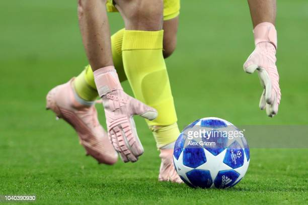 Goalkeeper Iker Casillas of Porto pics up the ball during the Group D match of the UEFA Champions League between FC Schalke 04 and FC Porto at...