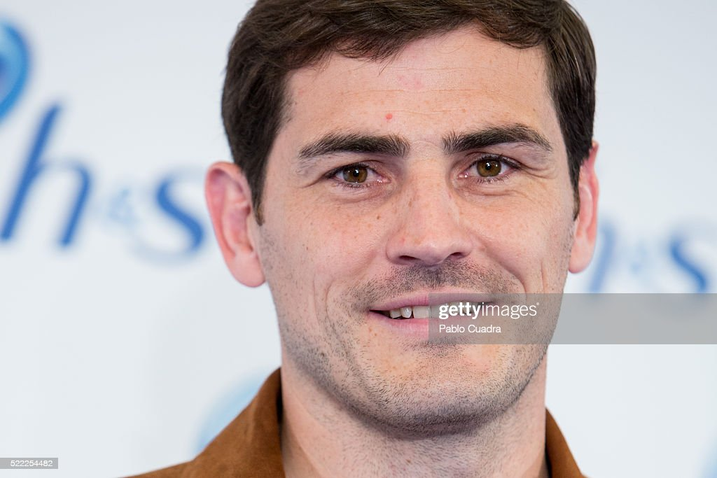 Goalkeeper Iker Casillas presents the new campaign and products by H&S on April 18, 2016 in Madrid, Spain.