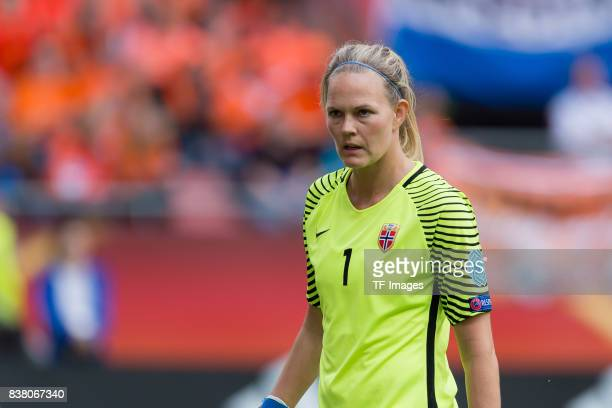 Goalkeeper Ingrid Hjelmseth of Norway looks on during their Group A match between Netherlands and Norway during the UEFA Women's Euro 2017 at Stadion...