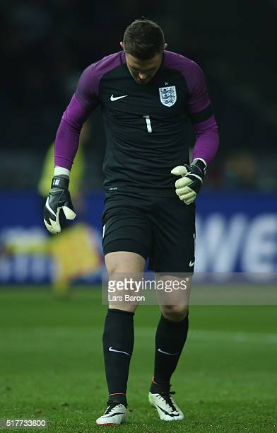 Goalkeeper Jack Butland is seen during the International Friendly match between Germany and England at Olympiastadion on March 26 2016 in Berlin...