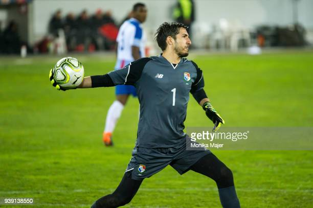 Goalkeeper Jaime Penedo of Panama in action during the International Friendly between Switzerland and Panama at the Swissporarena on March 27 2018 in...