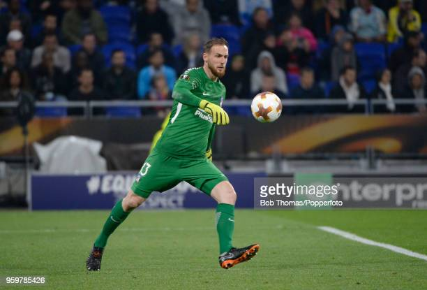 Goalkeeper Jan Oblak in action for Atletico Madrid during the UEFA Europa League Final between Olympique de Marseille and Club Atletico de Madrid at...