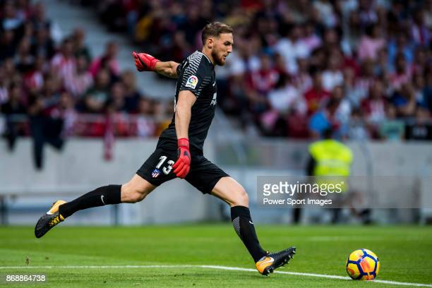 Goalkeeper Jan Oblak of Atletico de Madrid in action during the La Liga 201718 match between Atletico de Madrid and Villarreal CF at Wanda...